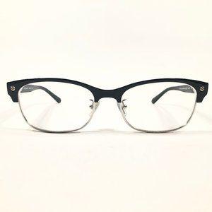 Coach Rectangular Black Semi Rimmed Glasses Frames
